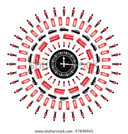 London - symbols  -  icons - centric conceptual isolated illustration - stock photo