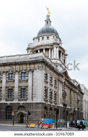 London. The Central Criminal Court, Old Bailey. - stock photo