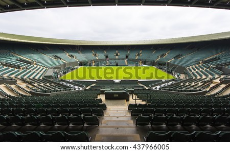 LONDON, THE UK-CIRCA MAY 2016: at court number one at Wimbledon place - stock photo