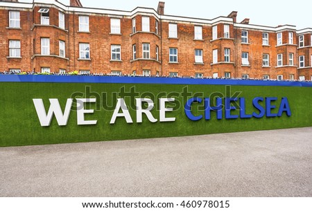 LONDON,THE UK-CIRCA MAY 2016: Visiting Stamford Bridge - the official playground of FC Chelsea