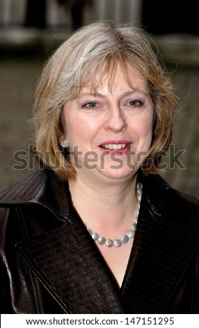 London. Theresa May at the Women's Own Children of Courage Awards at Westminster Abbey. 13 December 2006 Keith Mayhew/Landmark Media - stock photo