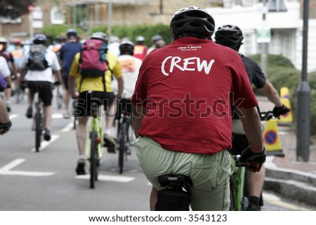 London to Brighton bike ride. - stock photo