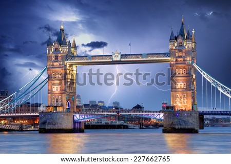 London - Tower bridge - stock photo