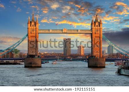 London - Tower bridge, UK - stock photo