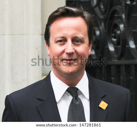 London. UK .  British Prime Minister David Cameron.  Launching the UN's Decade of Action for Road Safety in a campaign to reduce road deaths. 11th May 2011.