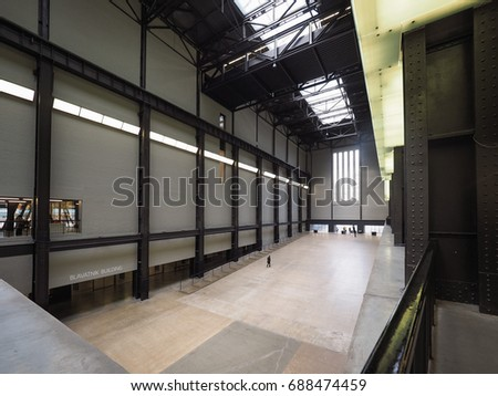 LONDON, UK - CIRCA JUNE 2017: Turbine Hall at Tate Modern art gallery in South Bank power station