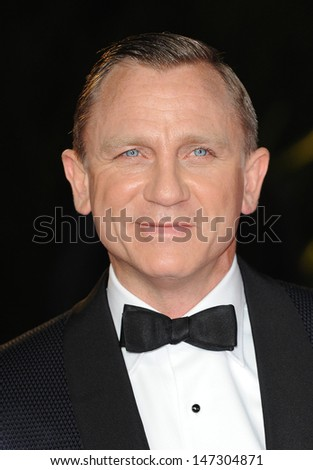 London, UK.  231012. Daniel Craig at the Royal World Premiere of the film Skyfall held at the Royal Albert Hall in Kensington. 23 October 2012. - stock photo