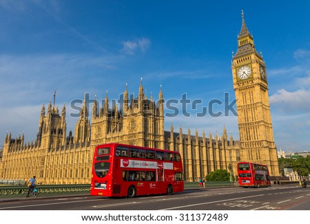 London, UK - July 19, Big Ben in London, July 19.2014 in London