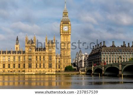 London, UK-July 20, Big Ben, July 20.2014 in London - stock photo