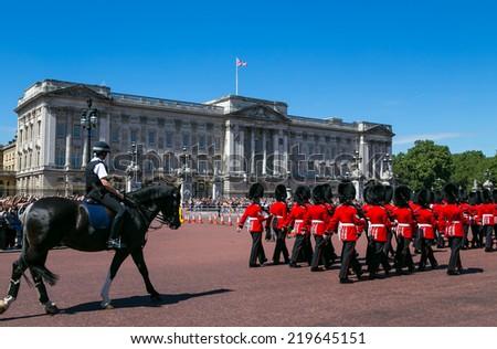 London, UK-July 03, Buckingham Palace, July 03.2014 in London - stock photo