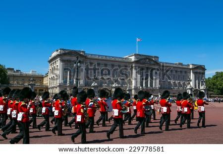 London, UK-July 05, Buckingham Palace, July 05.2014 in London - stock photo