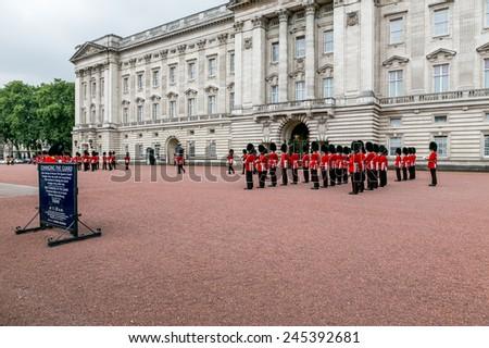 London, UK-July 06, Buckingham Palace, July 06.2014 in London - stock photo