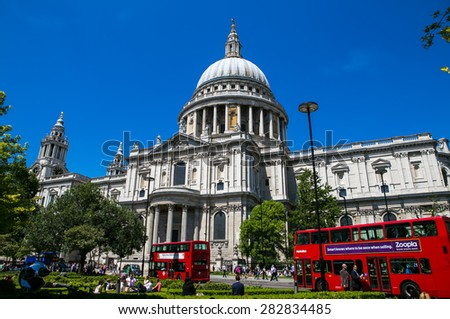 London, UK - July 08, Cathedral of St. Paul in London, July 08.2014 in London