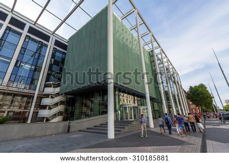 LONDON, UK - JULY 20, 2015: Imperial College London is a public research university in the United Kingdom. Imperial is organised into four faculties of science, engineering, medicine and business. - stock photo