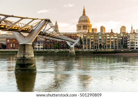 London, UK - July 18, 2016 - St. Paul's Cathedral in London