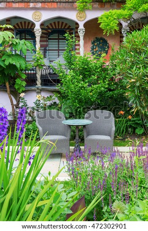 London, UK   June 21, 2016: Kensington Roof Gardens In London. Its