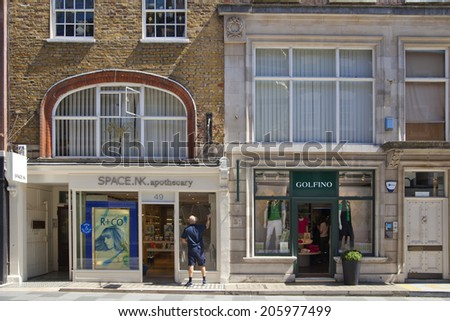 LONDON, UK - JUNE 3, 2014: Mayfair town houses, center of London - stock photo