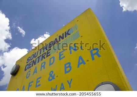 LONDON, UK - JUNE 21 2014: The Brutalist concrete architecture of the Southbank Centre, London. - stock photo