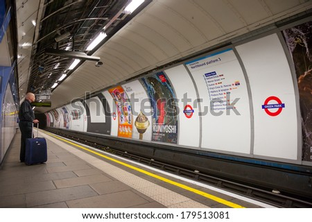 London, UK - June 7, 2009: The Green Park station opened December 15, 1906 with the name of Doover Street. The station was renovated in 1933. Changing name in Green Park. - stock photo