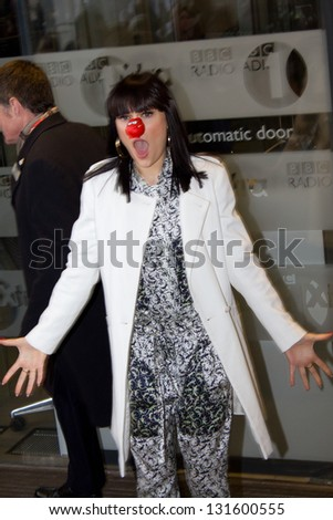 LONDON, UK - MAR 14: Jessie J arrives at BBC Radio One in London on the MAR 14, 2013 in London, UK