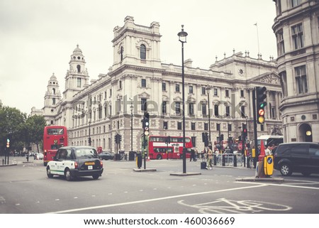 LONDON - UK, MAY 27: Area of central London within the City of Westminster, part of the West End  on the north bank of the River Thames and is one of the most visited areas in London, UK.