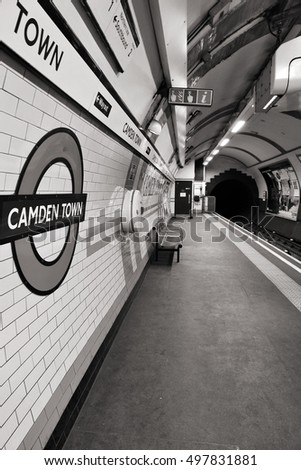 LONDON, UK - MAY 15, 2012: Camden Town underground station on May 15, 2012 in London. London Underground is the 11th busiest metro system worldwide with 1.1 billion annual rides.
