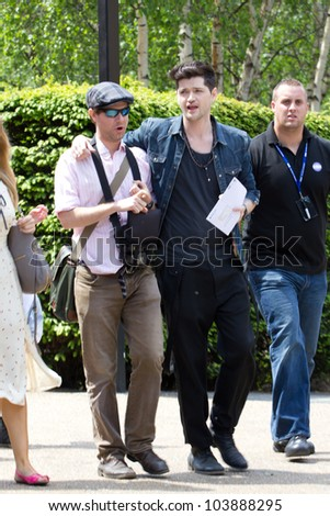 LONDON, UK - MAY 30: Danny O'donaghue from the Voice And Irish Band The Script arrives outside the Tate Modern on the MAY 30, 2012 in London, UK