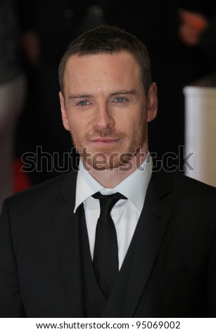 London, UK, 12/02/2012 Michael Fassbender arrives for the Orange British Academy Film Awards (BAFTAS) Royal Opera House, Covent Garden, on February 12, 2012 in London.