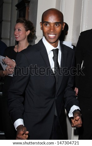 London, UK. Mo Farah at the GQ Men of the Year Awards at the Royal Opera House, Covent Garden. 4th September 2012.