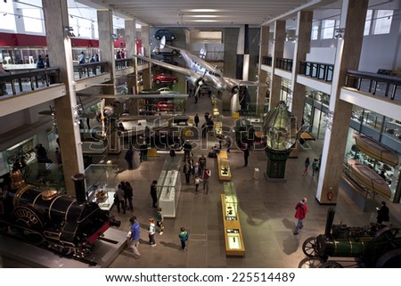 LONDON, UK - OCTOBER 22ND 2014: An interior shot of the Science Museum in London on 22nd October 2014. - stock photo