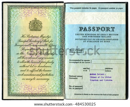 Uk Passport Stock Images, Royalty-Free Images & Vectors ...