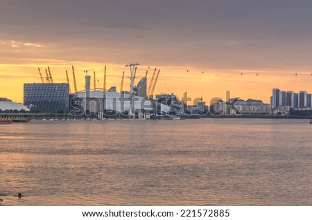 LONDON, UK - 26th JULY 2014: The Millennium Dome, built in celebration of the beginning of the third millennium in year 2000, - stock photo