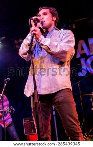 LONDON, UK 18th march. Show of Andy Jordan in the scale. London 18.03.2015 - stock photo