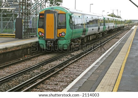london underground, trains and railway in england - stock photo