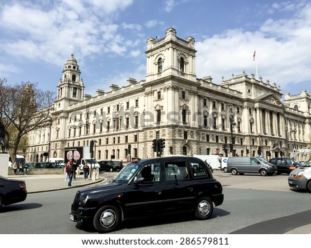 LONDON, UNITED KINGDOM - APRIL 16, 2015: beautiful HMRC building at Westminster, London, UK . London is the world's most-visited city as measured by international arrivals. - stock photo