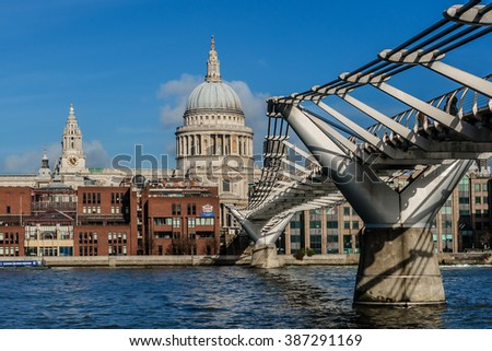 LONDON, UNITED KINGDOM - AUGUST 11, 2014: View of the Embankment and River Thames. London, England. - stock photo