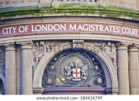 London, United Kingdom - 29th DEC 2013: City of London Magistrates Court building - stock photo