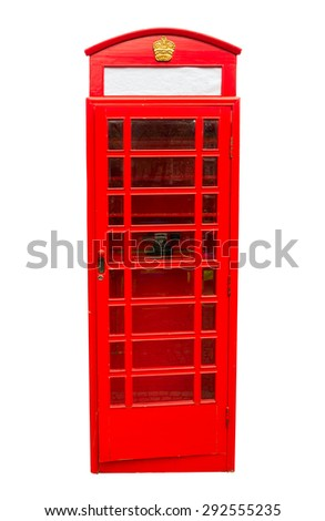 London vintage call box - stock photo