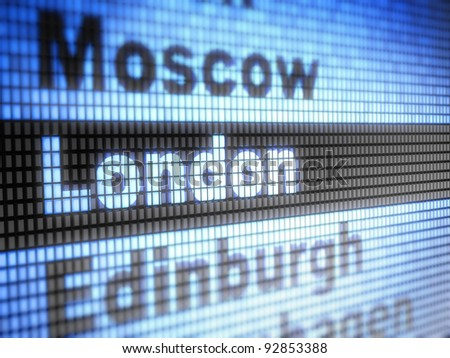 London. World capitals  Full collection of icons like that is in my portfolio - stock photo