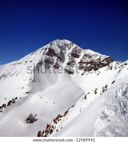 Lone Peak - stock photo