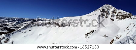 Lone Peak Panorama - stock photo