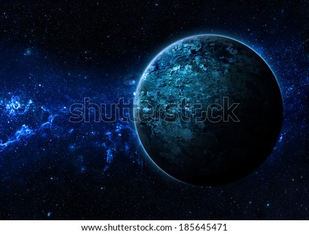 Lone Planet- Elements of This Image Furnished By NASA  - stock photo