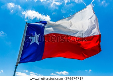 Lone Star Flag of the State of Texas, USA - stock photo