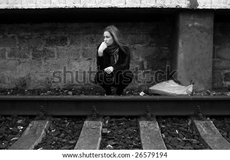 Loneliness - stock photo