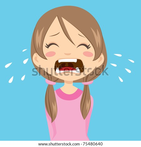 Cartoon Girl Crying Stock Images, Royalty-Free Images ...