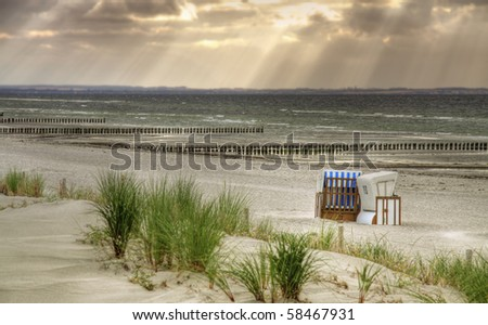 "Lonely Beach ""Schwarzer Busch"" at island Poel (Mecklenburg-Vorpommern,  Germany) - stock photo"