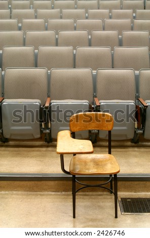 lonely chair - stock photo