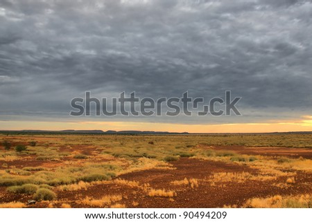 Lonely Outback Scenery in Western Australia - stock photo