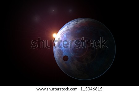 Lonely planet - stock photo