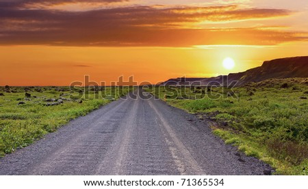 Lonely road - stock photo